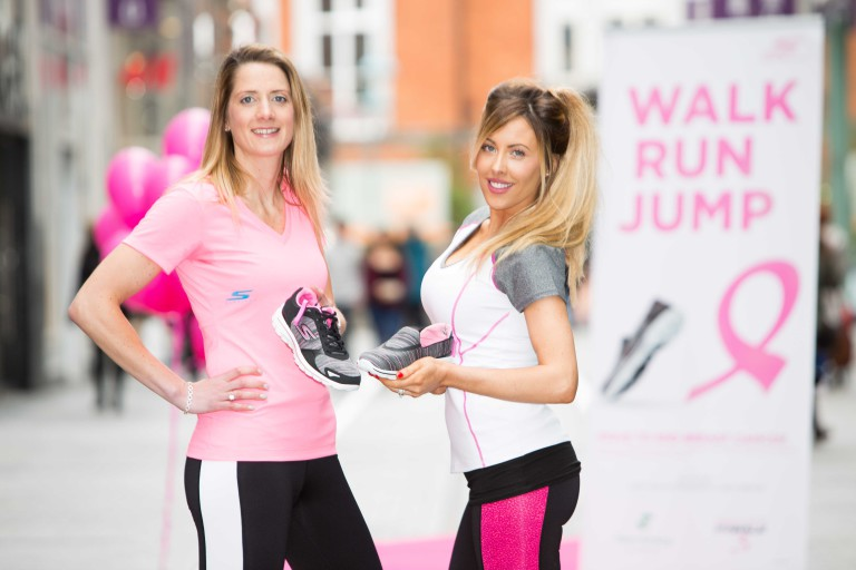 "22/April/2016 - REPRO FREE - New Image Eight Time All-Ireland Winner Juliet Murphy and Fashion and beauty blogger Lisa Jordan of ""Just Jordan"" at the launch of the limited edition Skechers GOwalk 3 footwear collection in aid of the Marie Keating Foundation at the Skechers store, Opera Lane, Cork on Friday 22nd April. Picture: Michael O'Sullivan/OSM Photography   More Info: See Press Release or contact Caitriona Hennessy; chennessy@mariekeating.ie"