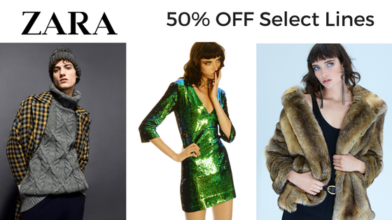 50% OFF Select Lines